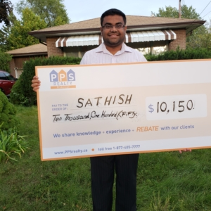 Cash Back Rebate Cheque for home buyers - PPS Realty Rebates for Homes in Woodbridge, Ontario